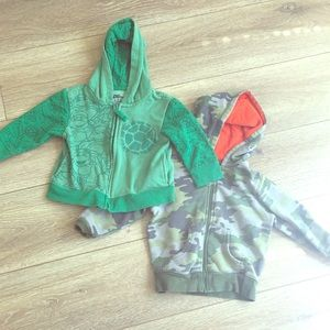 Other - 2T Ninja Turtle and Camouflage Hoodie